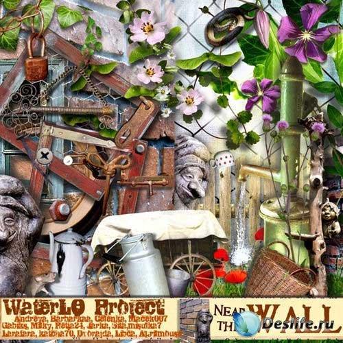 Садоводческий скрап-комплект - У стены