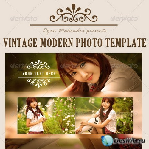PSD Рамки - Vintage Modern Photo Template