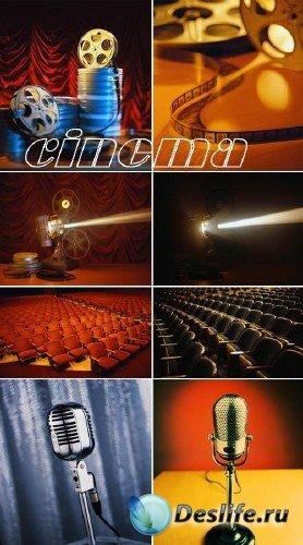 Ретро кинотеатр (коллекция фонов)