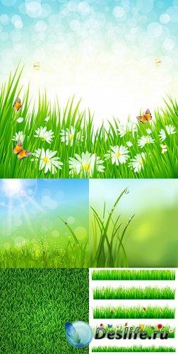 Векторный клипарт - Зелёная трава