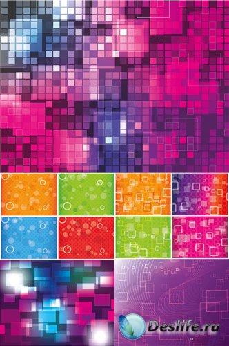 Цветные векторные фоны 5 шт