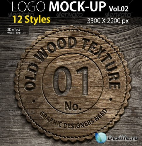 PSD логотипы - 12 Photorealistic Logo Mock ups