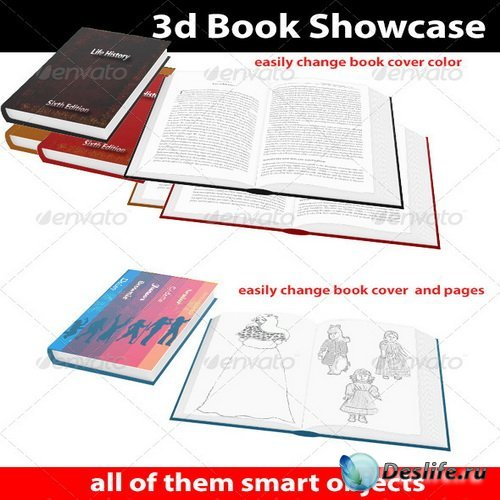 Смарт шаблон - 3d Book Showcase