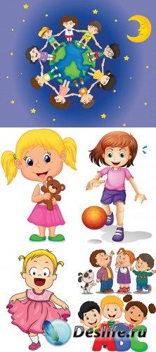 Векторный клипарт - Счастливые дети