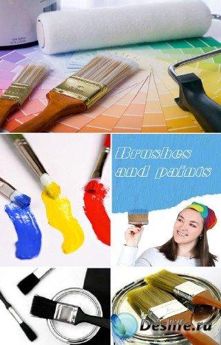 Кисти и краски (строительные фоны)