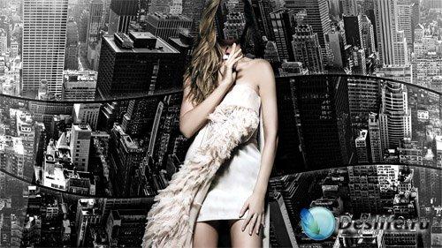 Женский костюм - Черно-белый Нью-Йорк