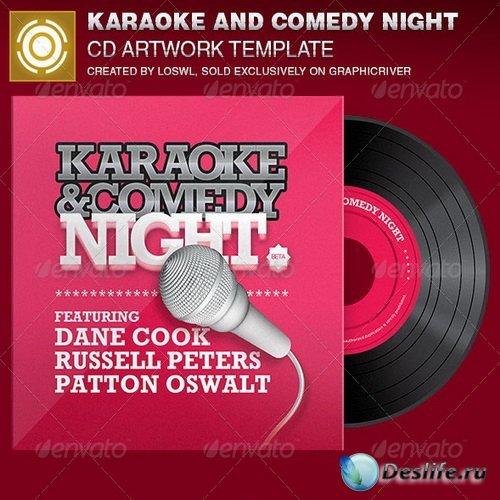Шаблон CD диска - Karaoke and Comedy Night Template