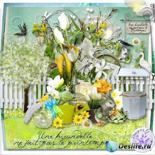 Скрап-комплект - Не только ласточка приносит весну