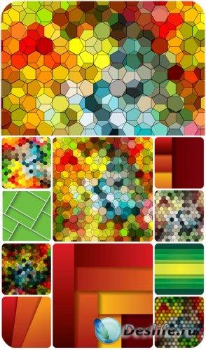 Разноцветные фоны в векторе, абстракция / Colorful backgrounds in vector ab ...