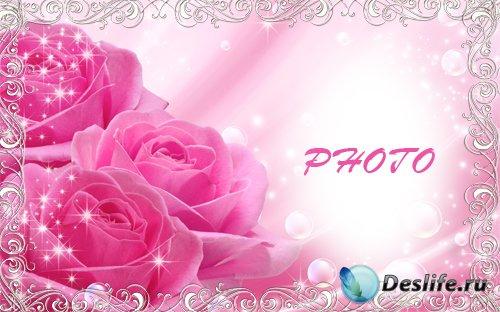 Рамка для фотографии - Розовые розы