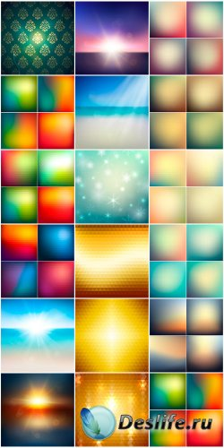 Сборнк - цветные фоны в векторе
