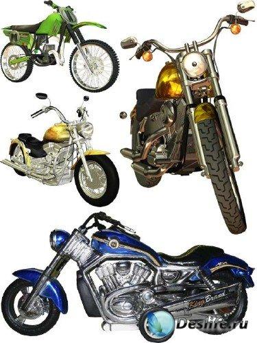 Мотоциклы и мопеды (подборка клипарта)