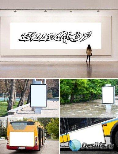 Билборды на автобусах и остановках