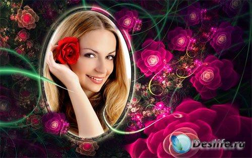 Рамка для фотографии - Нежные розы