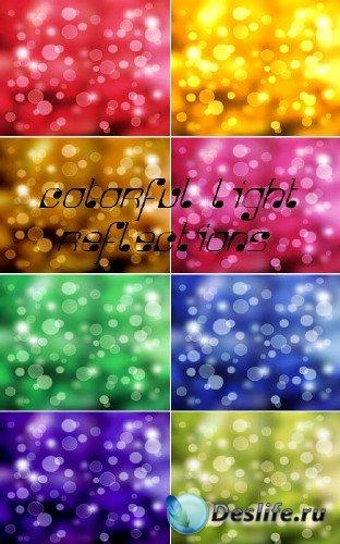 Большая коллекция разноцветных световых бликов