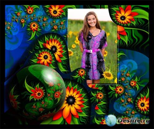 Рамка для фотошопа - Весенние подсолнухи