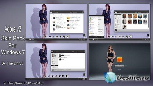 Adore v.2 Skinpack - Тема для Windows 7