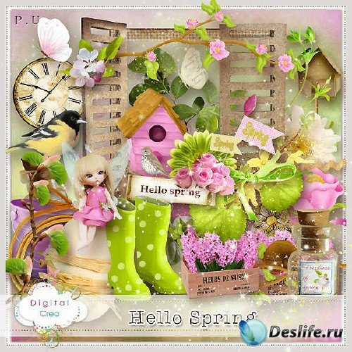 Цифровой скрап-набор - Здравствуй весна