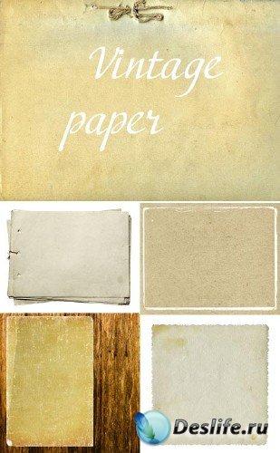 Связанная бумага и картон (набор винтажных фонов)
