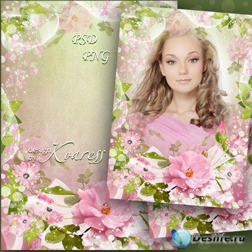 Романтическая рамка для фото - Нежные краски весны