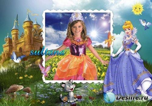 Рамка для фотошопа для девочек - Маленькая принцесса