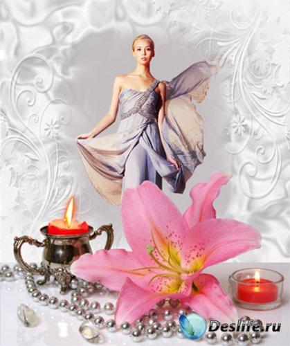 Рамка женская – Розовая лилия
