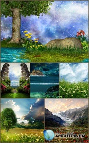Фоны для фотошопа - Сказочный пейзаж 9