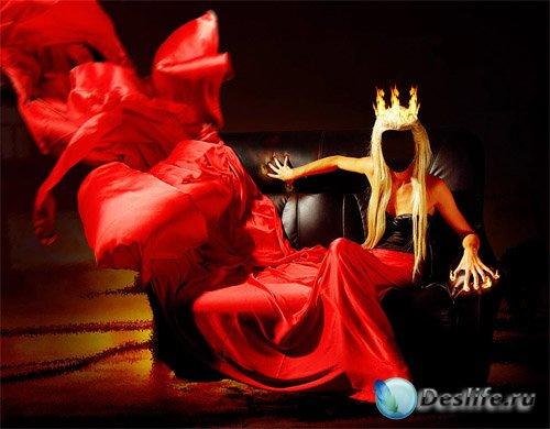Костюм женский - В красном огненном платье