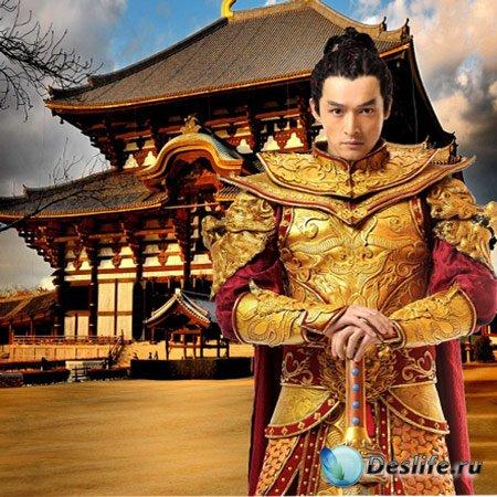 Костюм для Фотошопа - Золотой самурай