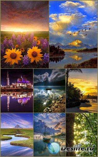Пейзажные фоны для рамок и открыток 4