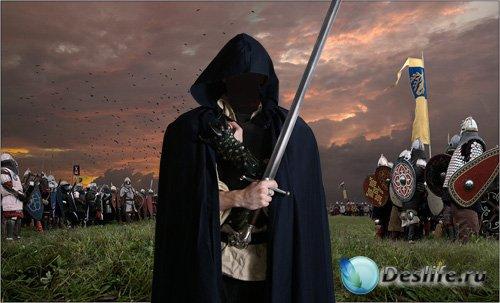Костюм для Фотошопа - Загадочный рыцарь с мечом