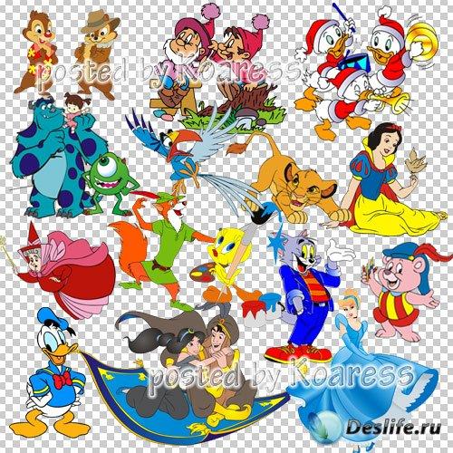 Png клипарт с героями любимых мультфильмов Диснея
