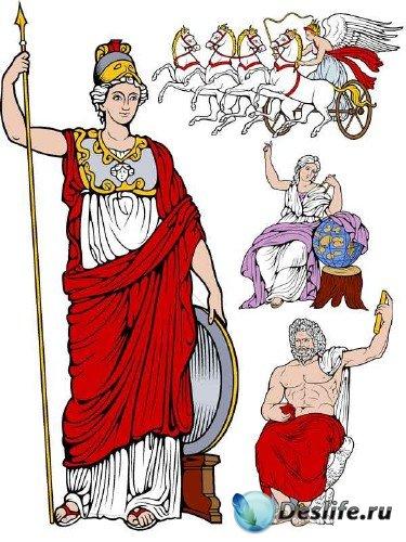 Персонажи мифологии Древней Греции (векторные отрисовки)