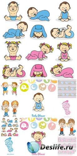 Дети, детский вектор / Children, children vector