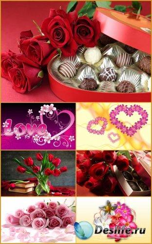 Романтические фоны - Нежные цветы