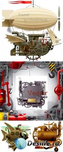 Космические летающие корабли в Векторе
