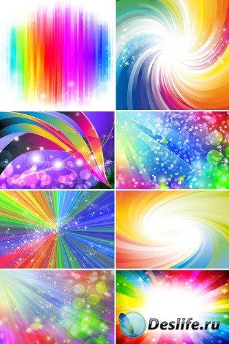 Веселая радуга (набор фонов)