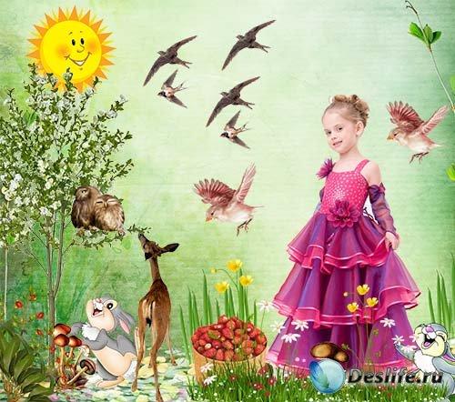 Девочка на лесной полянке