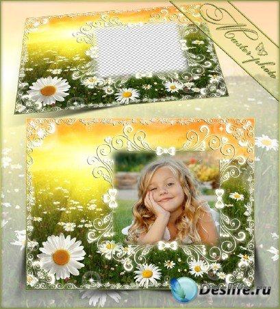 Рамка летняя для photoshop - Ромашковое счастье