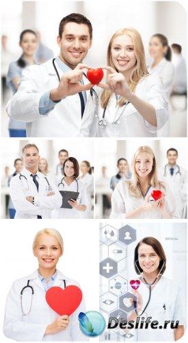 Врачи с сердечком, медицина / Doctors with heart, medicine - Stock photo