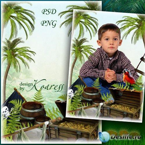 Детская рамка для фото - Сокровища пиратов