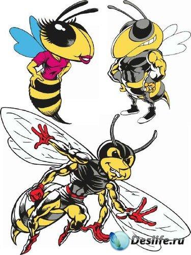 Стильные пчелы (подборка вектора)