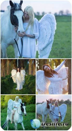 Девушки с крыльями, девушка с лошадью / Girls with wings, girl with horse - ...
