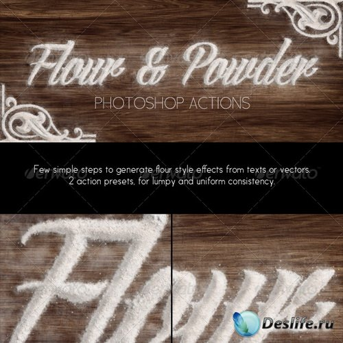 Экшены - Flour & Powder - Photoshop Actions - 6712507