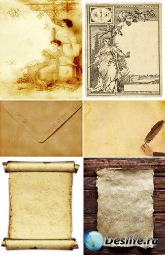 Письма с открытками и старая бумага