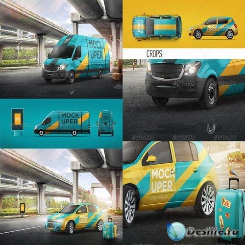 Смарт-шаблоны - Van & Car Mock-Ups (2 PSD)