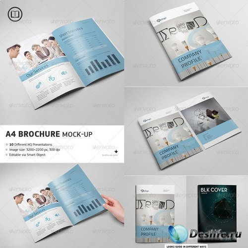 Смарт шаблон - Brochure - Catalog Mock-Up - 7672767
