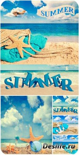 Летние фоны, море / Summer backgrounds, sea - Stock Photo
