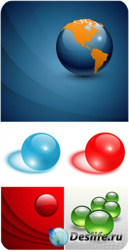 Векторные фоны с шарами / Vector background with balls