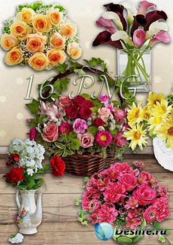 Букеты и корзинки с цветами на прозрачном фоне - Самый лучший подарок, это  ...
